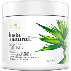InstaNatural Dead Sea Mud Mask  Reduce Facial Pores  Organic for Oily  Acne Prone Skin Blemishes  Complexion  Mineral Infused Fine Line Reducing Product with Shea Butter  Aloe Vera  19 OZ -- Check out the image by visiting the link. (Note:Amazon affiliate link)