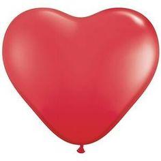 Ovelle: Sydänilmapallo 25 cm / punainen 10 kpl