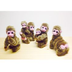 モールでニホンザル祭りの巻 Pipe cleaner Japanese macaque  #macaque #monkey #pipecleaner…