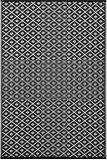 tapis en plastique tress bleu avec motifs fleuris roses rice d co pinterest tapis tapis. Black Bedroom Furniture Sets. Home Design Ideas
