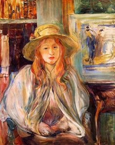 1892. Julie Manet with a straw hat - Berthe Morisot