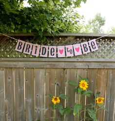 Bride To Be Banner // Bridal Shower Decoration // Hen Party //  Wedding Shower Decor // Engagement Party // Custom Paper Banner