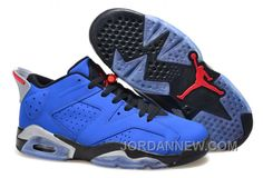 """http://www.jordannew.com/mens-air-jordan-6-low-eminem-blue-black-grey-for-sale-free-shipping.html MENS AIR JORDAN 6 LOW """"EMINEM"""" BLUE BLACK/GREY FOR SALE DISCOUNT Only $92.00 , Free Shipping!"""