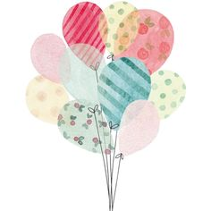 ballons - Page 3 ❤ liked on Polyvore featuring balloons, filler, backgrounds, birthday, art, detail and embellishment