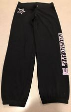 #Justice #Sweatpants #black #pink #silver #sequins #love #size 16 #long #active