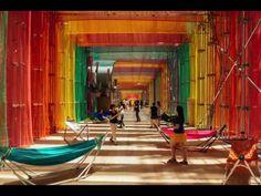 """Archifest 2016 Pavilion"" has been built using construction materials   DP Architects - Arch2O.com"
