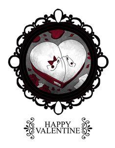 Happy Valentine by CottonValent on DeviantArt Dark Pictures, Cute Pictures, Creepy Cat, Funny Horror, Cat Drawing, Drawing Ideas, Witch Art, Spyro The Dragon, Cat Art