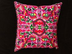 """Amazon.com: Cushion, Pillows Covers Decorative Thailand Hmong Hill Tribe Embroidery 14"""" X 14"""": Home & Kitchen $19.99"""