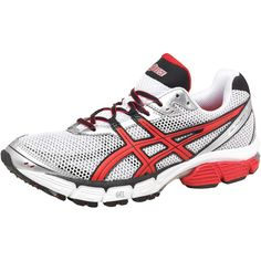 Asics Mens Gel Pulse 4 Neutral Running Shoes White/Red/Silver