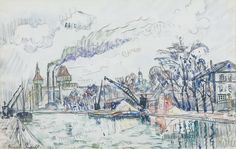 Canal of the Ourcq, 1927. Paul Signac
