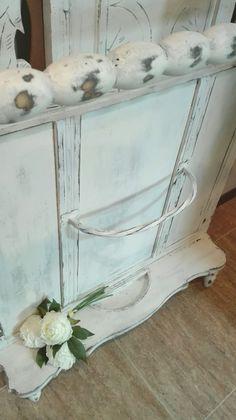 Sombrerero paragüero perchero siglo XIX macizo restaurado chalk Paint Shabby Chic