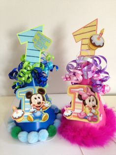 Baby Mickey Or Minnie 1st Birthday Party Hat First