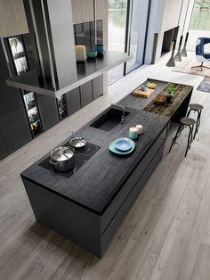 Cocina omicron 22 atelier casa armony cucine: cocinas de estilo por atelier casa s. Kitchen Room Design, Modern Kitchen Design, Home Decor Kitchen, Interior Design Kitchen, Kitchen Furniture, Kitchen Ideas, Modern Kitchens, Wood Furniture, Modern Design