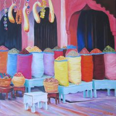 Colourful Morocco 50x50 Oil on Canvas