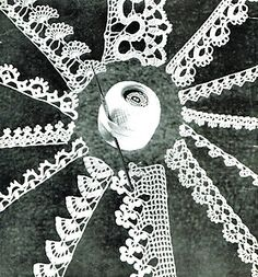 Vintage 1940s crochet lace pattern- 12 pretty edgings for you to make and trim all sorts...
