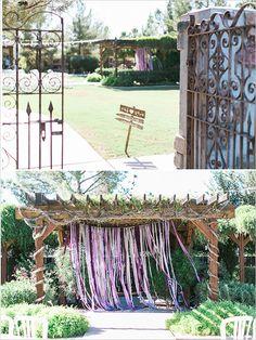 purple wedding ideas | diy ceremony backdrop | outdoor wedding ceremony | #weddingchicks