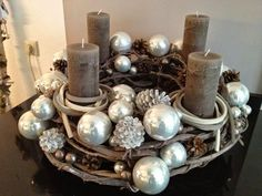 Advent wreath by EngelsWerke Christmas Advent Wreath, Nutcracker Christmas, Noel Christmas, Christmas Candles, Holiday Wreaths, Rustic Christmas, Winter Christmas, All Things Christmas, Christmas Crafts
