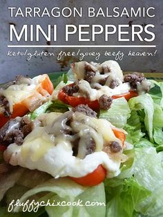 Cheesy Balsamic Stuffed Mini Pepper Recipe