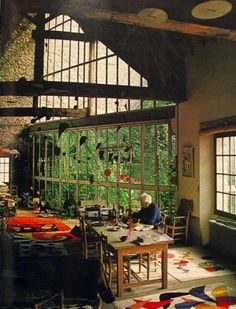 Alexander Calder's studio What does your ideal work space look like? #art #Alexander Calder #work space