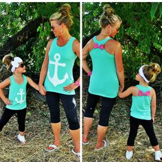 sparkleinpink.com Mommy & Me Anchor Tanks only $9.99