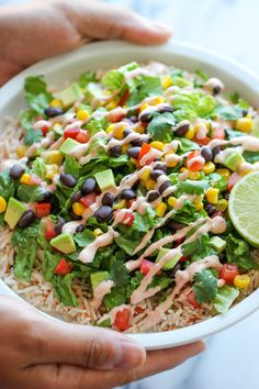 Easy Burrito Bowls - Skip Chipotle and try these burrito bowls right at home. It's easier, healthier and 10000x tastier!!