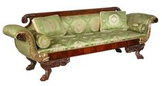 Carved Mahogany Classical Sofa, Phyfe School, New York circa 1820
