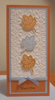 "I love 3"" x 6"" cards like this very pretty one made with Stampin' Up!'s  Day of Gratitude stamp set"
