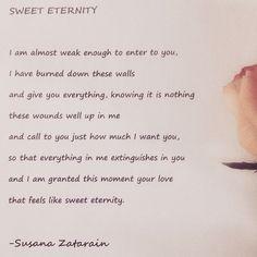 Sweet Eternity written by Susana Zatarain