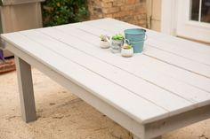 I have been wanting some outdoor furniture for a long time. I finally talked Mr.PBL into helping me build a farmhouse patio table. I wasn't sure how it would come out, but I have to…Continue Reading…