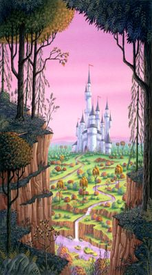 Fantasy Castle Mural - Phil Wilson| Murals Your Way