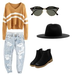 Untitled #9 by andra-elena-ii on Polyvore featuring polyvore, fashion, style, OneTeaspoon, Études, Ray-Ban and clothing