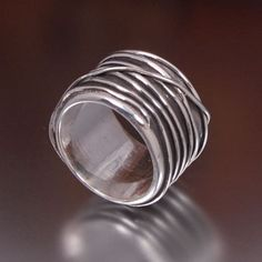 Silver Threads Ring, by Liad on Etsy