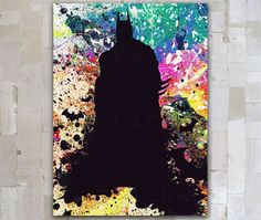 Aquarell digitale Kunstdruck Batman Batman Poster Dark von GOLDIDI