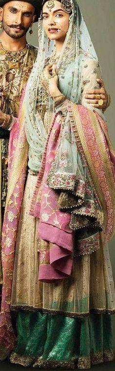 Deepika Padukone Bajirao Mastani - Indian fabric is beautiful & sari fabrics can be used for more than clothing :)