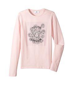 fa21f371dc74 Versace kids long sleeve t shirt w medusa rose design on front big kids