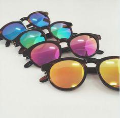 Emian Böhe sunglasses #mirrorlenses #yellow #pink #green #blue #black