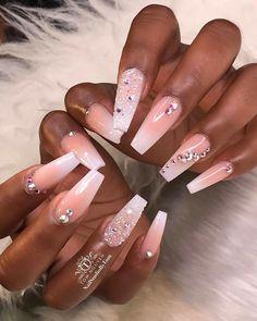 Installation of acrylic or gel nails - My Nails Acrylic Nails Natural, Summer Acrylic Nails, Cute Acrylic Nails, Summer Nails, Coffin Acrylic Nails Long, Summer Holiday Nails, Glam Nails, Dope Nails, Pink Nails