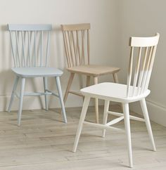TOP TIPS FOR USING FURNITURE PAINT: Dip Dye – Inject a pop of colour into your living space by 'dipping' chair or table legs for a contemporary look. This works wonders with our new Elgin Spindle Chair and Stool which are both crafted from untreated beech wood.