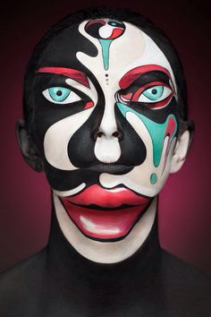 Amazing face paint... weird, but cool. I cant find the eyes