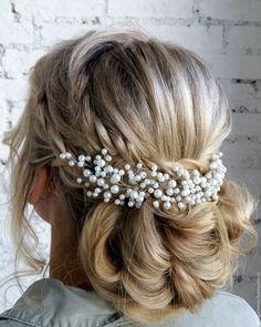 Купить Свадебное украшение для прически с жемчугом - гребень для прически…
