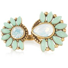Stella & Dot Zinnia Split Ring (51 CAD) ❤ liked on Polyvore featuring jewelry, rings, stella & dot, earrings, vintage jewelry, statement rings, stella dot jewelry, adjustable rings and vintage jewellery