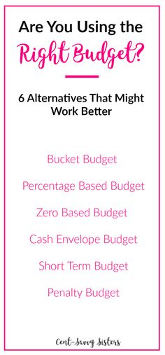 I love these tips for budgeting, saving money, and getting out of debt faster by choosing the right budget for you! If you're using the wrong budget it can be harder to do. Check out the details by clicking through to the article! Budgeting Worksheets, Budgeting Finances, Budgeting Tips, Money Saving Challenge, Money Saving Tips, Money Tips, Money Budget, Money Savers, Financial Tips