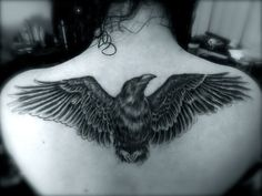 raven tattoo | Tumblr  - Those wings, minus the bird in the middle.