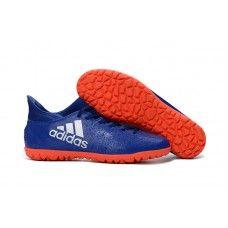 Adidas X 16.3 TF Blå Orange Sølv Crampon Adidas 32bbb0ab7f5a1