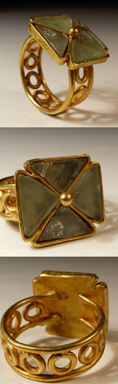 BYZANTINE GOLD CROSS RING