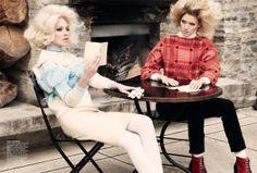 Emilia and Melissa by Nicole Bentley for Vogue Australia #evatornadoblog #fashionblog #editorial