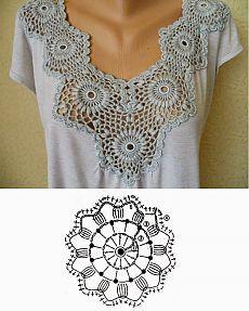 linda blusa de algodón con crochet