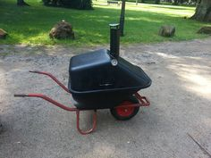 barbecue grill smoker wheelbarrow