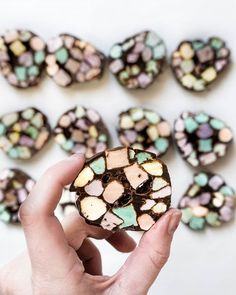 Stained glass or church window cookies ❤️ Recipe below - give it a try and enjoy all the chocolatey goodness ! . .  @bookedpackedabroad curator of @flatlaytoday  Tag us and use #Flatlaytoday to be featured ❤️ . .  How to make: 1/2 cup (1 stick) unsalted butter  2 cups semi-sweet chocolate chips or 12 ounces best quality dark chocolate, finely chopped . 1 bag (10.5 ounces) colored mini marshmallows  Directions: .In a large bowl combine butter and chocolate. Microwave on high for approximately…