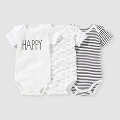 Body manches courtes (lot de 3) 0 mois-3 ans R essentiel - Cadeau de naissance